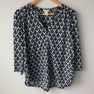 H&M | Diamond Pattern Blouse